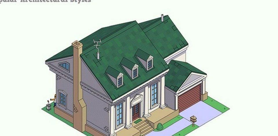 Simpsonların Evini 8 Popüler Mimari Stilde Yeniden Yaratmak