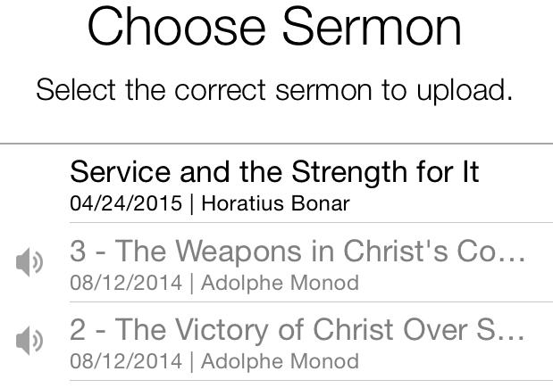 iphone uploads-select sermon