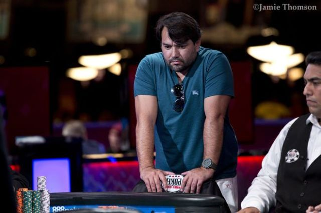 Ricardo Souza (foto) durante o Campeonato Mundial de Poker em 2018