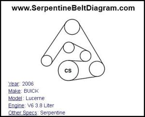 » 2006 BUICK Lucerne Serpentine Belt Diagram for V6 38