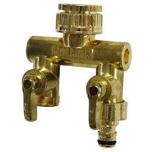 Tap Outlet 2-Way Brass
