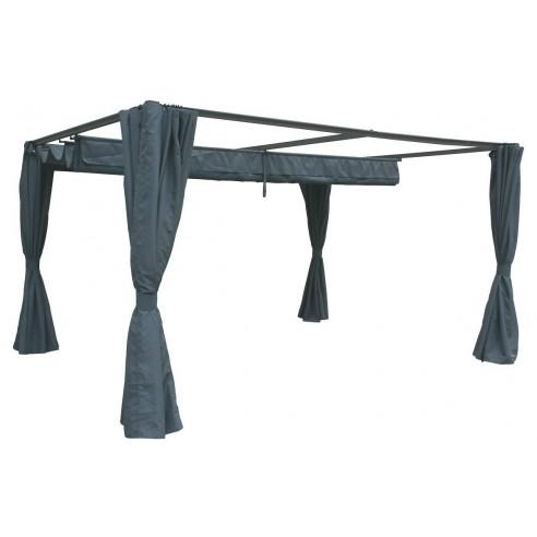 rideaux pour tonnelle palmeira ardoise 3 x 4 m hesperide