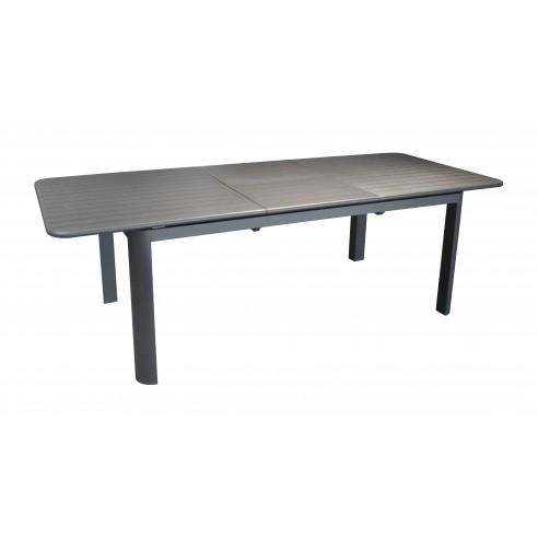 table de jardin eos en aluminium extensible 180 240 cm graphite ou taupe proloisirs