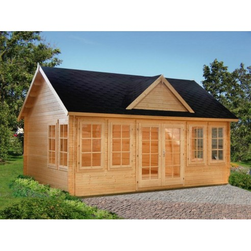 abri de jardin claudia 20 m habitable avec plancher en bois massif 44 mm