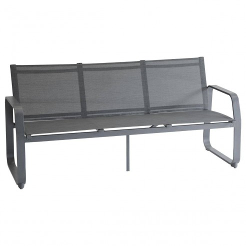 canape de jardin gili 3 places aluminium et texaline