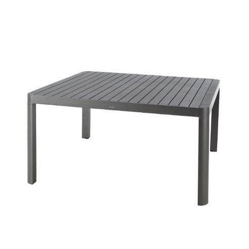 table de jardin paradize carree graphite extensible l 142 202 x p 142 cm hesperide