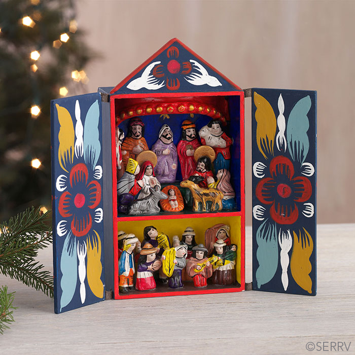 Andean Nativity Retablo Nativities Serrv International