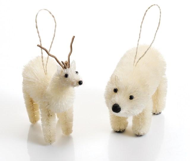 Polar Bear Reindeer Ornament Set