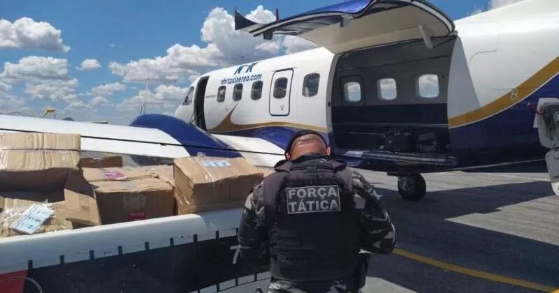 Polícia Militar intercepta aeronave com mais de 1 tonelada de cocaína em Catolé do Rocha