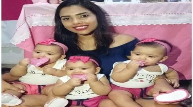Mãe de trigêmeos de Cacimba de Areia faz apelo às pessoas para adquirir leite para suas filhas. Veja como ajudar