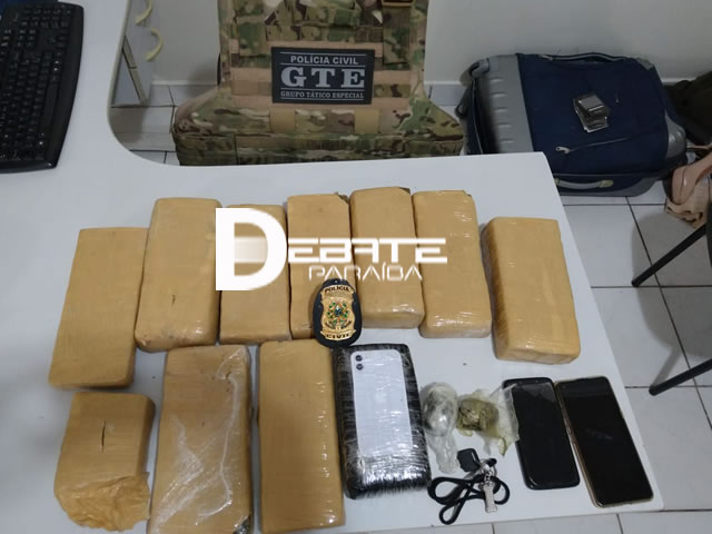 Três pessoas são presas e grande quantidade de drogas é apreendida pela Polícia Civil no município de Coremas