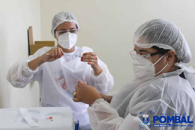 Pombal vacina pessoas a partir dos 45 anos com comorbidades nesta quinta-feira