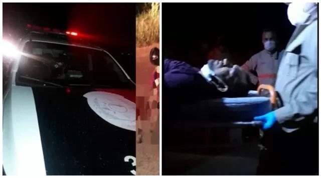 Tentativa de assalto na noite de domingo em Patos acaba com viatura da policia alvejada à bala e duas pessoas feridas