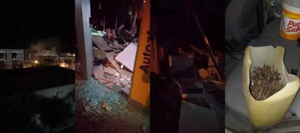 Bando fortemente armado explode caixas eletrônicos do Banco do Brasil em Paulista