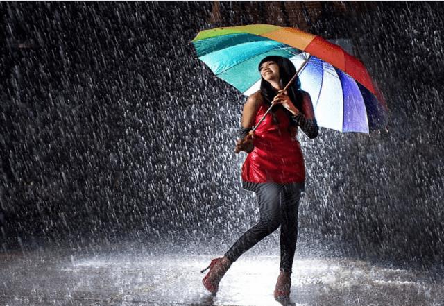 Air hujan bisa membahagiakan