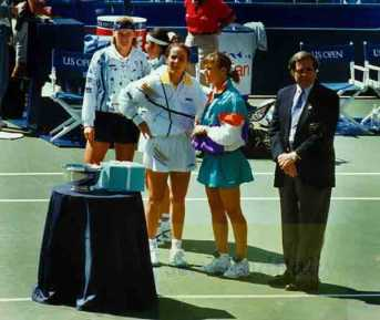 1994 US Open Womens Doubles Final Jana Novotna & A. Sanchez-Vicario vs. Robin White & Katerina Maleeva
