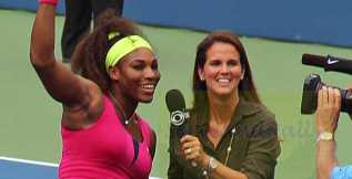 2012 US Open Serena and Mary Joe Fernandez