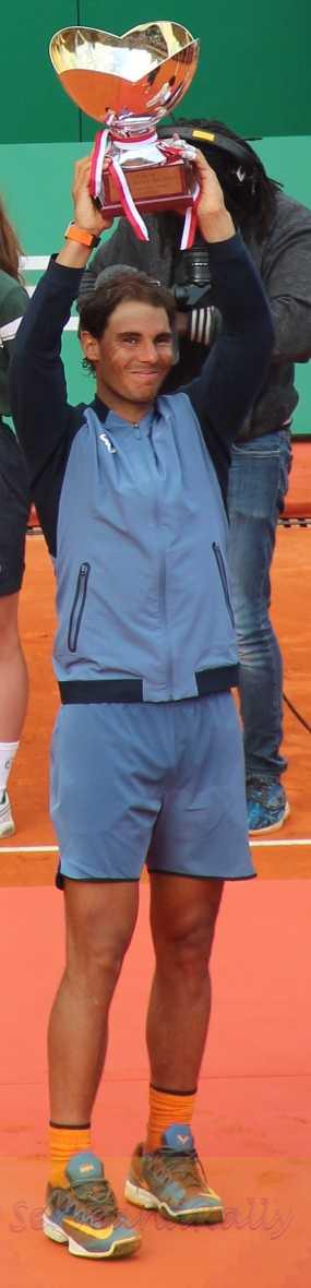 Nadal raises trophy