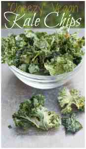 """Cheezy"" Salty, Crunchy, Vegan friendly Kale Chips. The perfect deceptionally healthy snack!"
