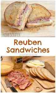 Homemade Rye Bread, Homemade Sauerkraut, Homemade Russian Dressing AND Guinness Corned Beef!  FROM SCRATCH Reuben Sandwiches!