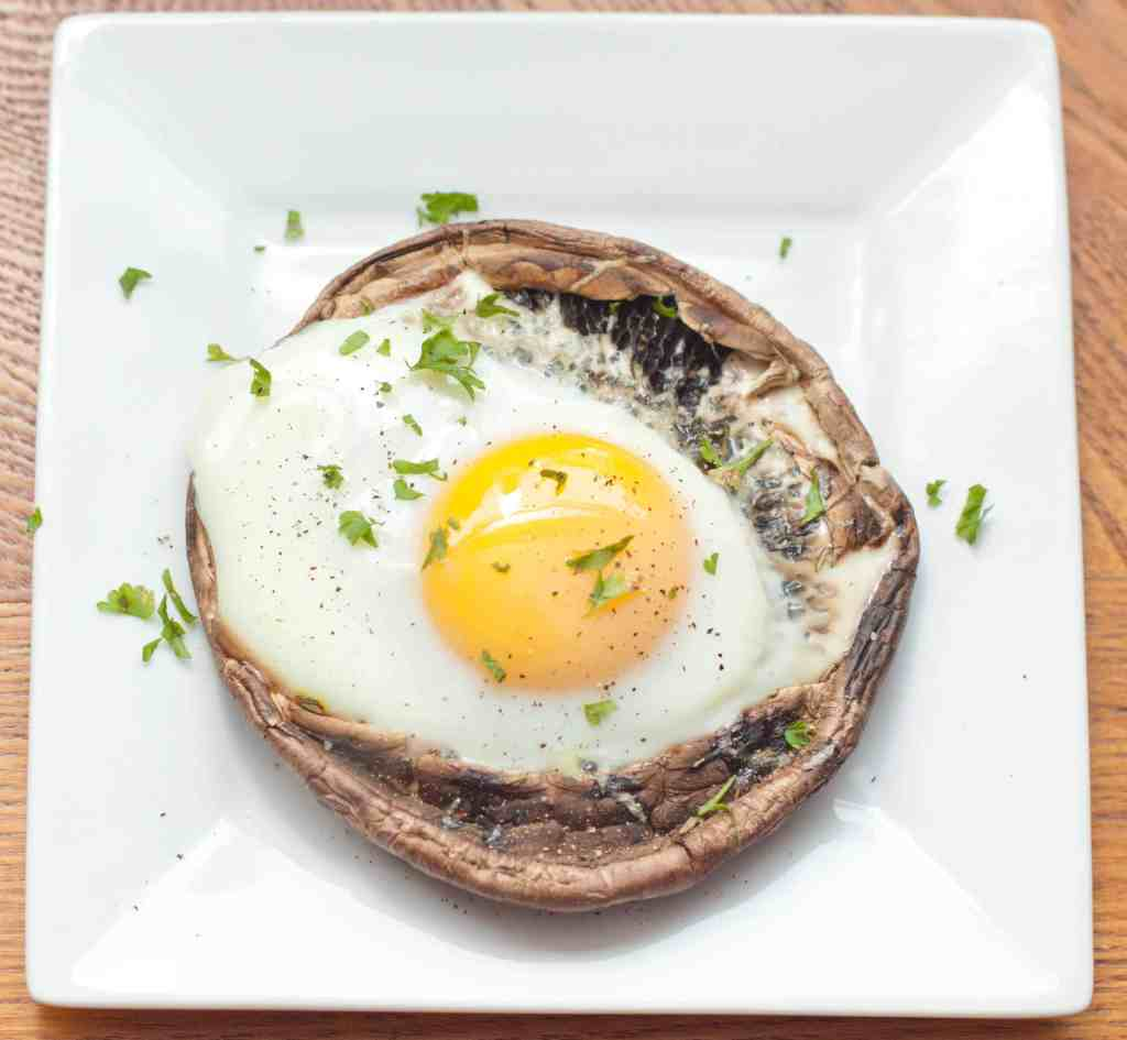 Portobello Baked Eggs - Served From Scratch