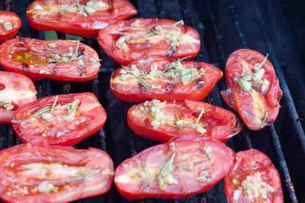 Grilled Parmesan Garlic Tomatoes