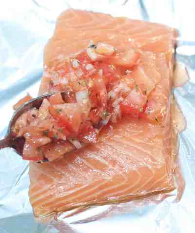 A super easy, low maintenance, baked salmon that's perfect for a weeknight meal!