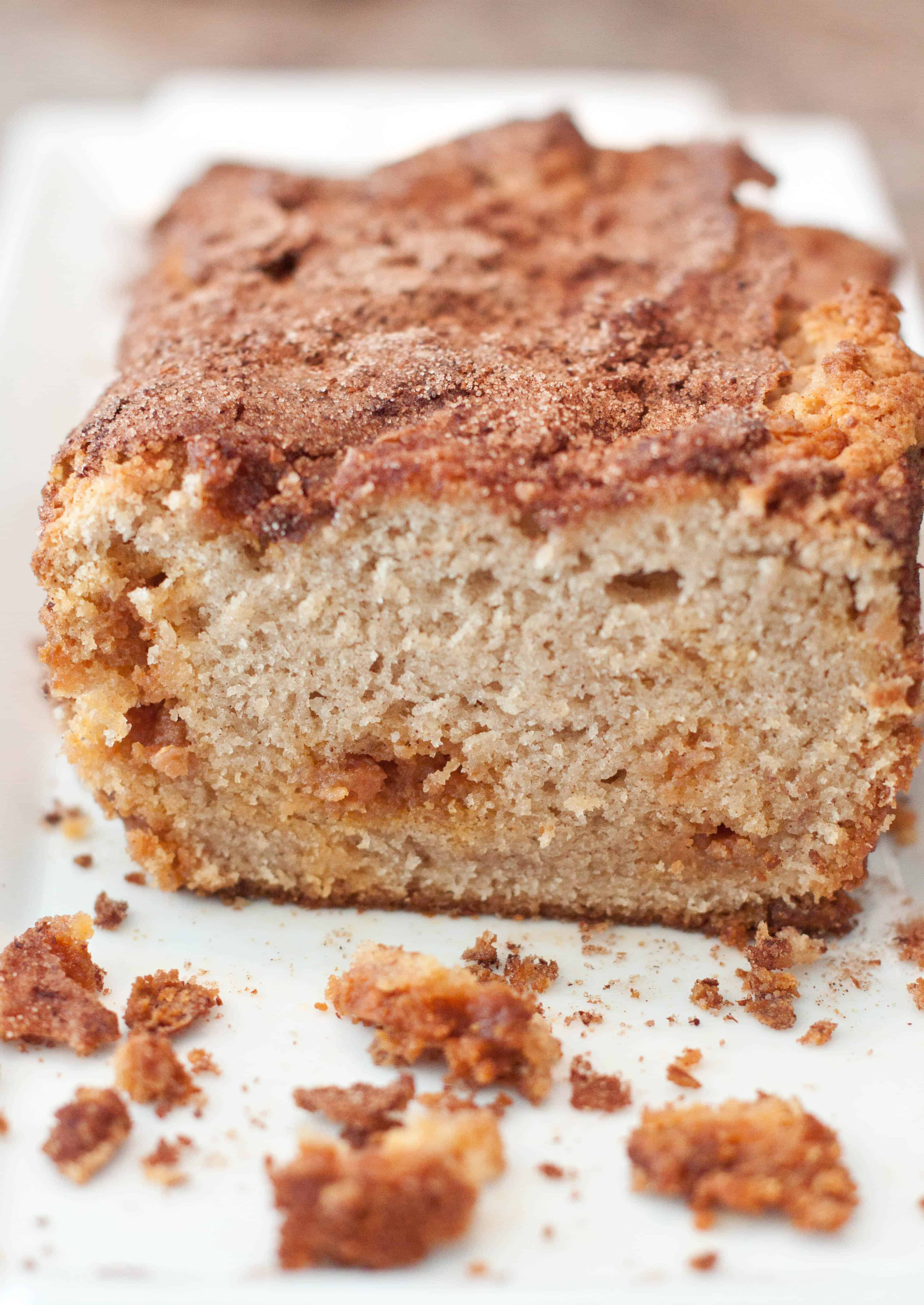 Butterscotch Snickerdoodle Bread Served From Scratch