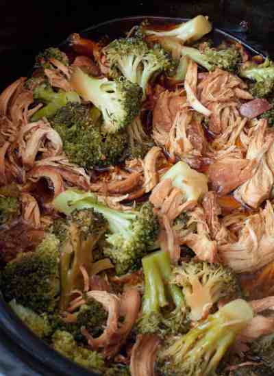 Flavor packed & incredibly easy, this Crock Pot Chicken and Broccoli is perfect for a weeknight dinner. Serve over rice and it'll taste just like take out!