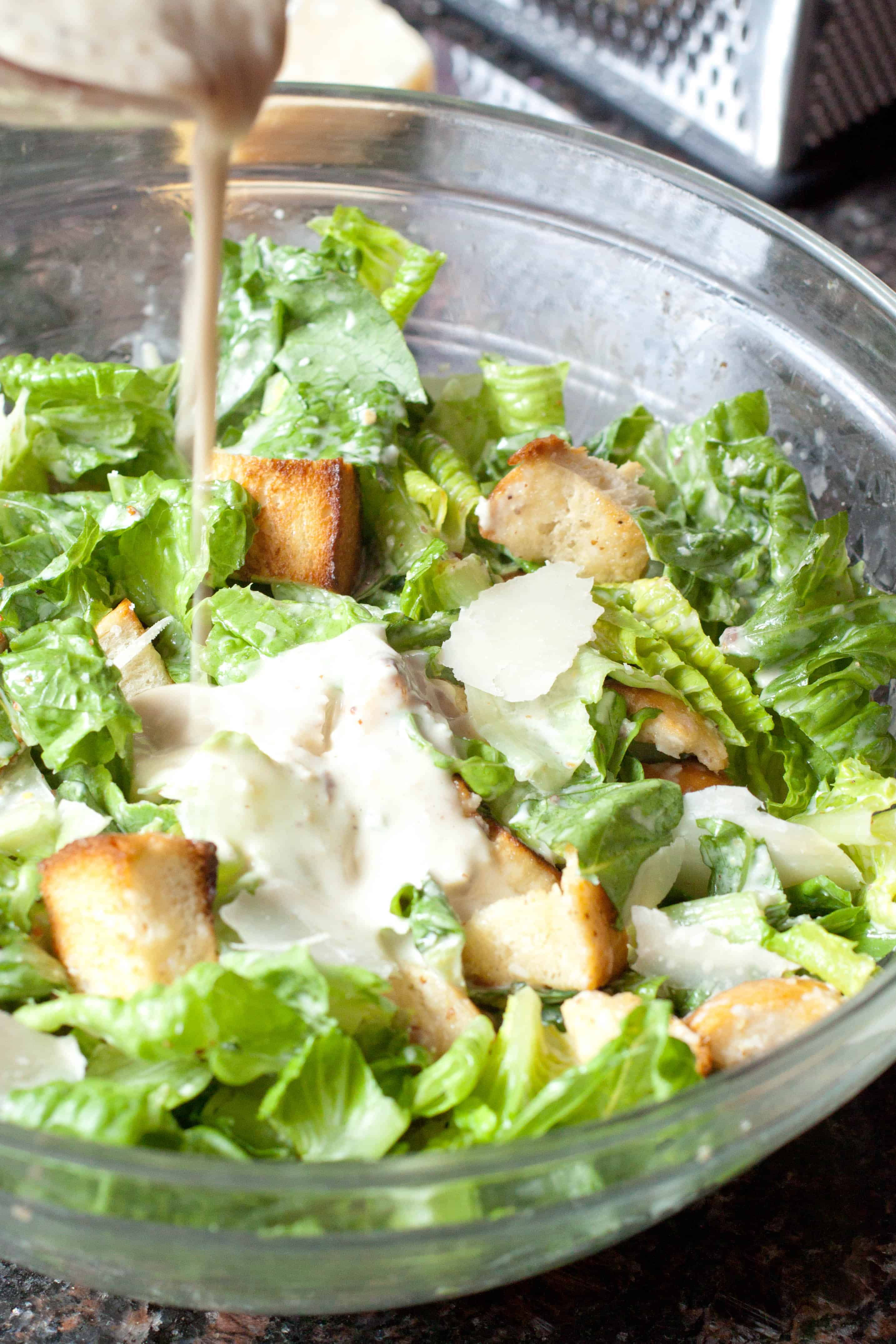easy caesar dressing from scratch served from scratch. Black Bedroom Furniture Sets. Home Design Ideas