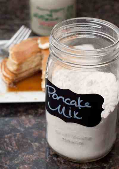 Put the box away! Make your own Homemade Pancake Mix from scratch that you can keep in your cupboard for anytime that pancake craving hits!