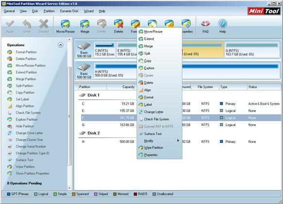 Partition magic Server 2008 R2