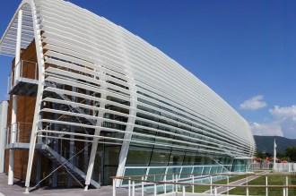 la spettacolare struttura architettonica della sede Archimede Solar Energy