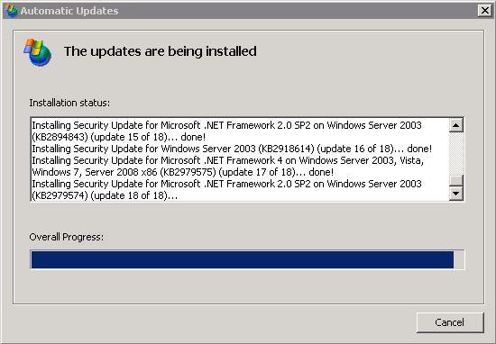 windows 2003 update4