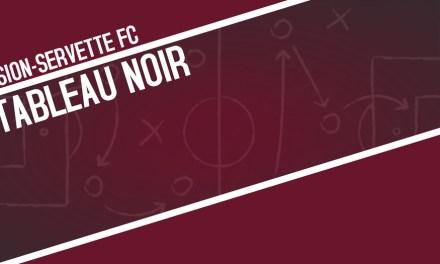 Tableau noir   FC Sion – Servette FC 1-2
