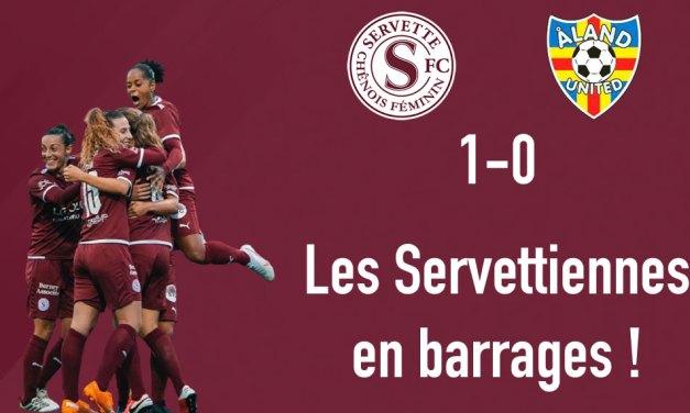 Servette FCCF – Åland United 1-0 : Barrages nous voilà !
