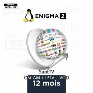 Abonnement Oscam SuptTV Enigma2 SAT IPTV et VOD 12 mois