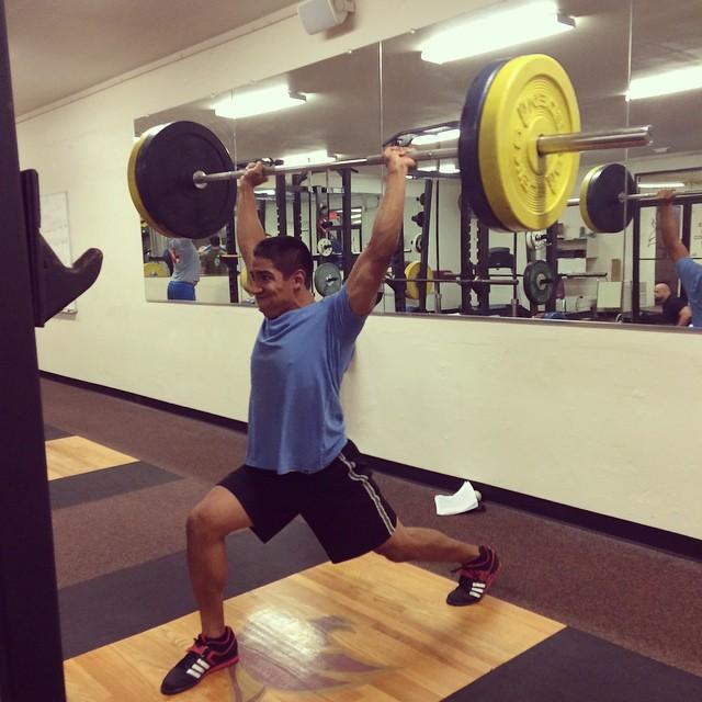 Jon Anthony doing Olympic Lifts