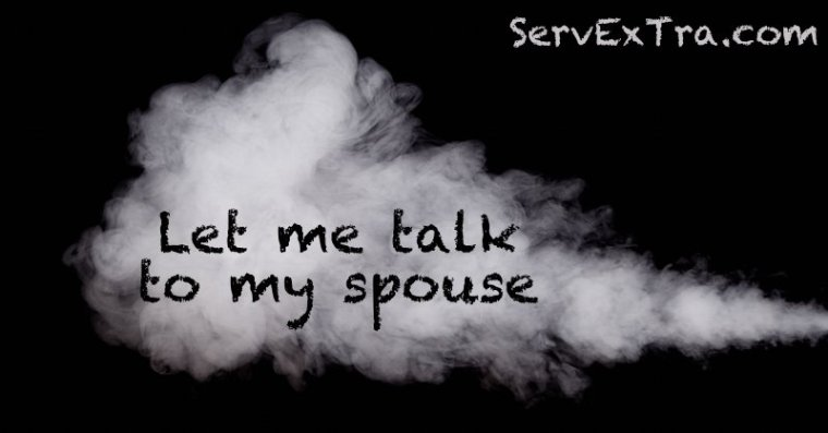 """How to overcome the """"Let me talk to my spouse"""" sales objectiion"""