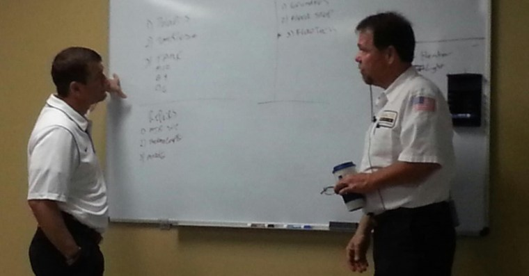 Bob Connelly of Abacus Plumbing Teaching Sales in class