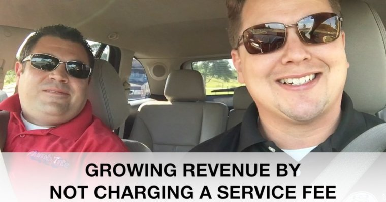 Growing Revenue by not charging a service fee