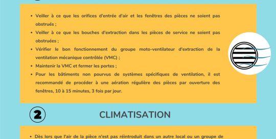 Fiche Ventilation ou climatisation dans les espaces recevant du public