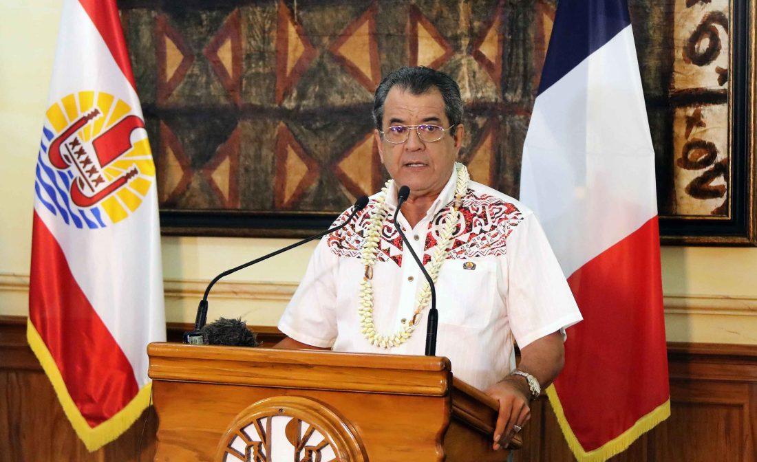 Photo de la déclaration du président et du haut-commissaire sur la reprise de l'activité touristique à compter du 15 juillet