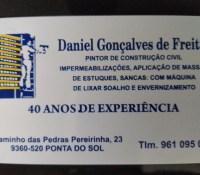 DANIEL GONÇALVES DE FREITAS – PINTOR DE CONSTRUÇÃO