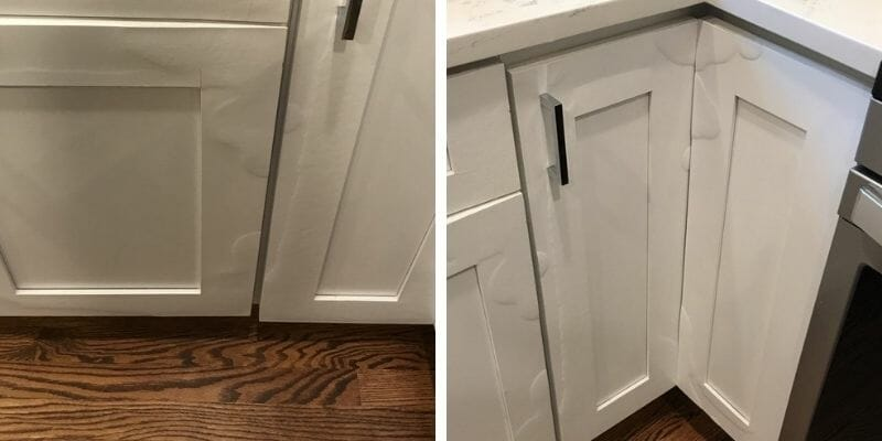 how to repair kitchen cabinets with
