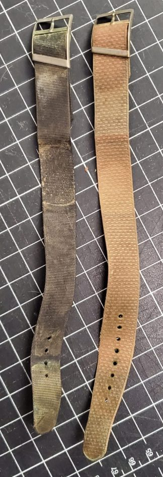 Used Vintage Military Style Wristwatch Bands - Adjustable