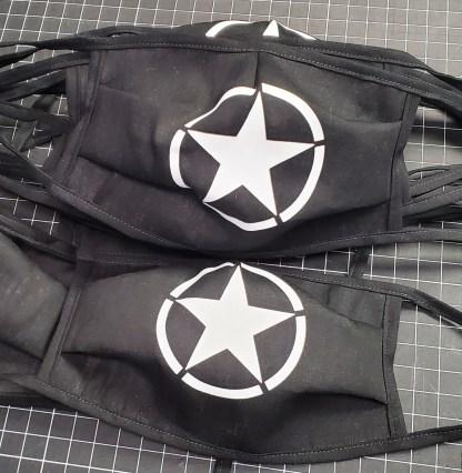 Black WWII Broken Circle Star Mask