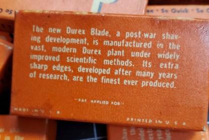 Vintage Durex Shaving Blades