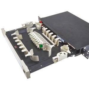 SC/APC 16Way 1U Fibre Managment Tray with Internal Couplers