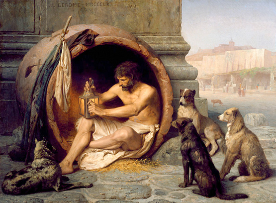 Diogenes. Image courtesy Wikimedia Commons.